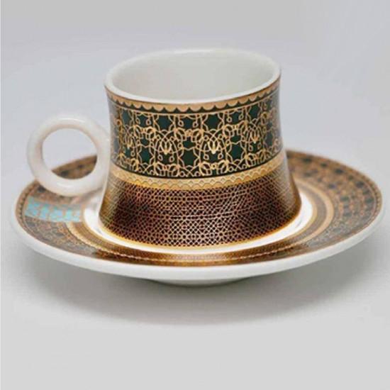 طقم فناجين قهوة 12 قطعة ذهبي
